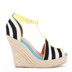 Seychelle's Stop Traffic Striped Espadrille Wedges